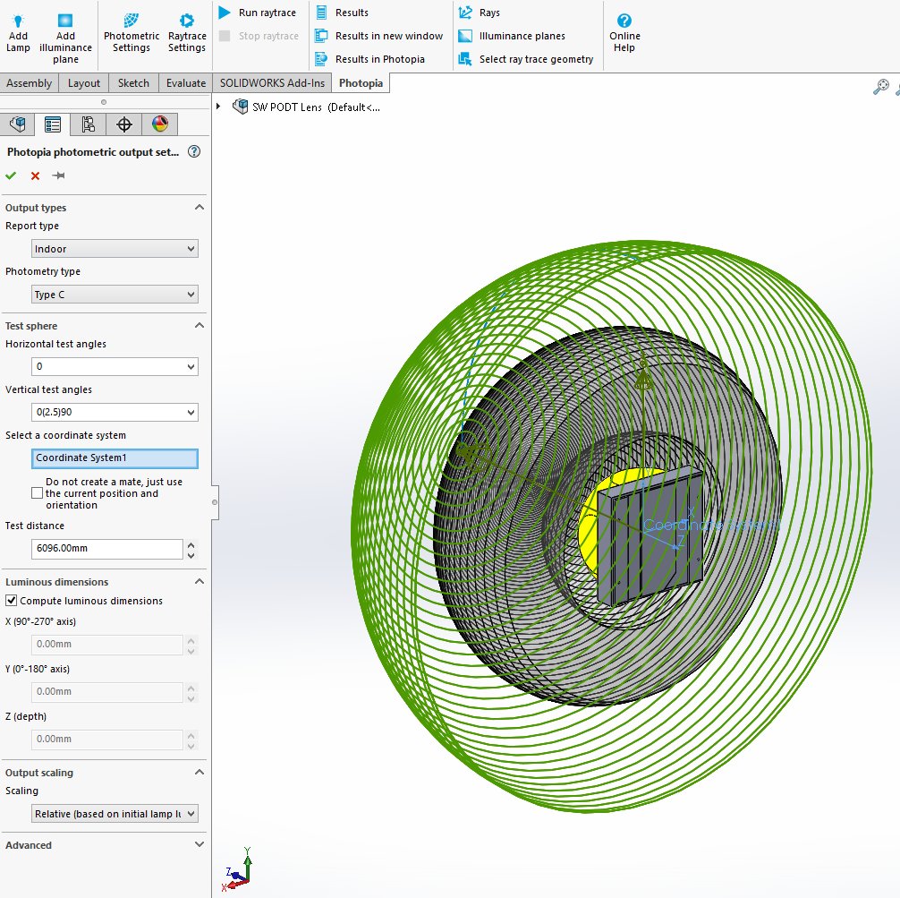 Solidworks PODT Tutorial - Outdoor LED Lens - Photometric Settings