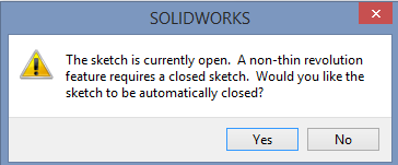 Solidworks PODT Tutorial - COB Reflector - Warning