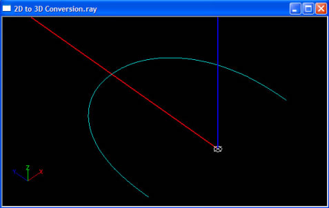 convert 2d to 3d geometry - step 4